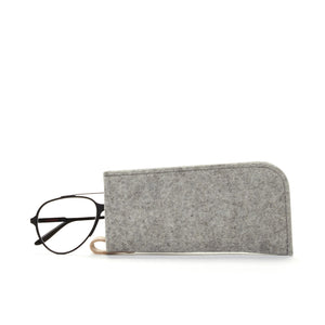 Felt Eyeglass Sleeve Granite