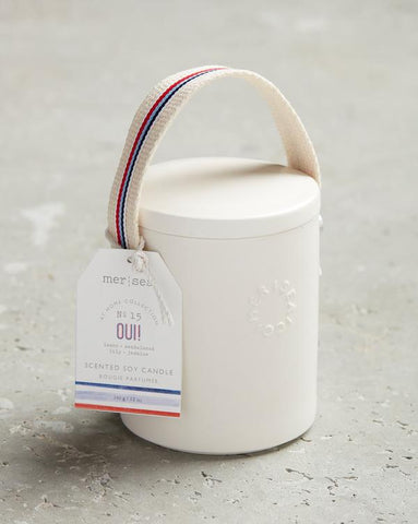 Oui! Stitched Handle Candle