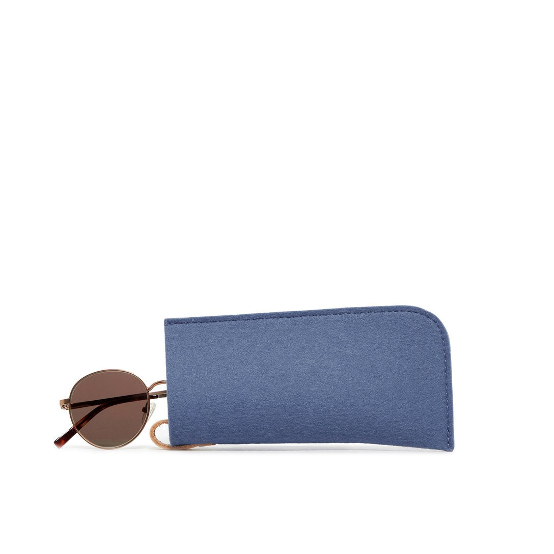 Felt Eyeglass Sleeve Horizon Blue