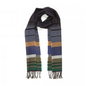 Lambswool Scarf Kyoto Navy by Wallace + Sewell