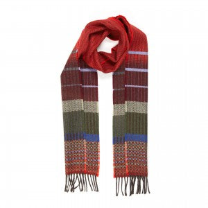 Lambswool Scarf Kyoto Red by Wallace + Sewell