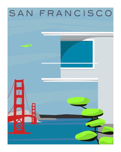 Print Modern San Francisco III by Michael Murphy
