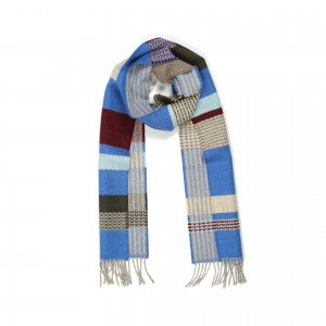 Lambswool Scarf Osaka Blue by Wallace + Sewell