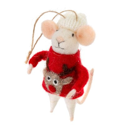 Ugly Sweater Steve Mouse Ornament