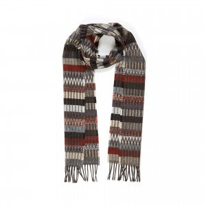 Lambswool Scarf Tokyo Dark by Wallace + Sewell