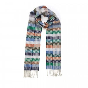 Lambswool Scarf Tokyo Denim by Wallace + Sewell