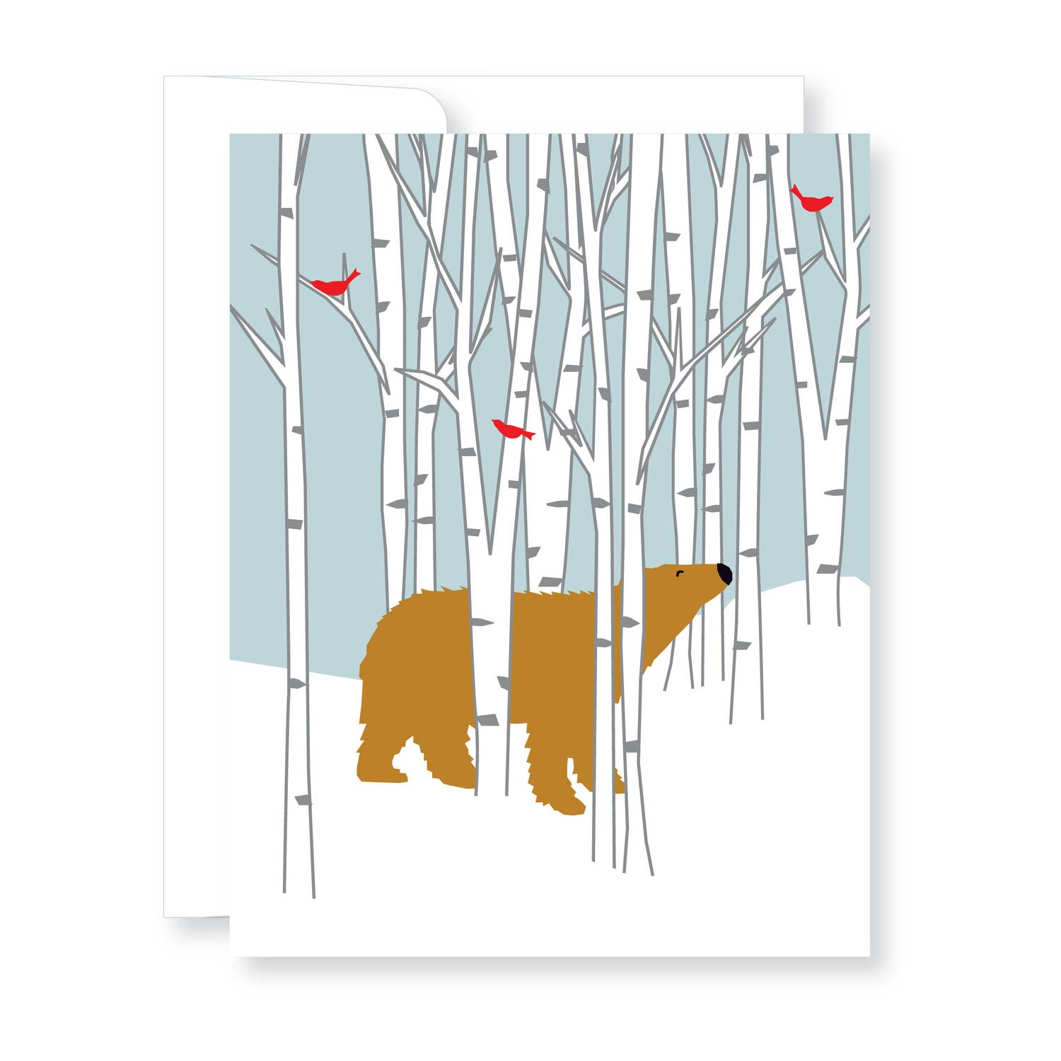 Holiday Cards Boxed Set-Bear in Birch with Birds