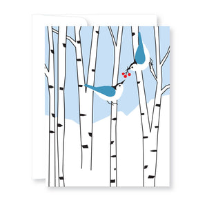 Holiday Cards Boxed Set-Two Birds in Birches