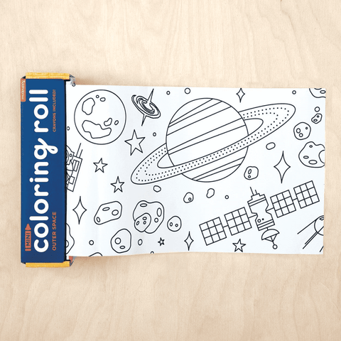 Mini Coloring Roll Outer Space