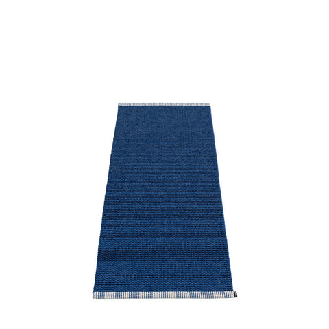 Pappelina Large Mono Rug Dark Blue