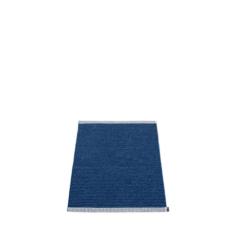 Pappelina Small Mono Rug Dark Blue