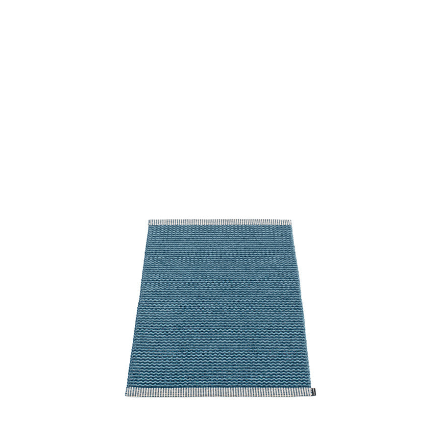 Pappelina Small Mono Rug Ocean Blue