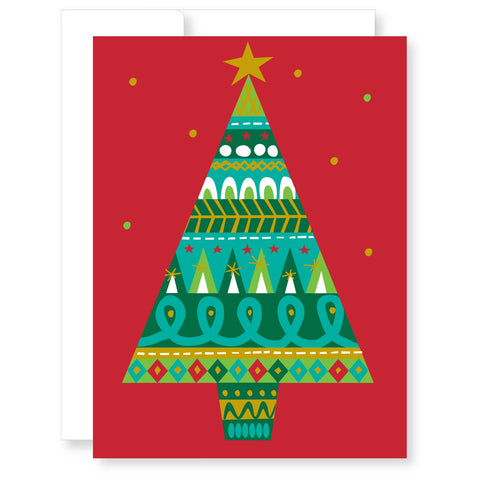 Holiday Cards Boxed Set-Patterned Tree
