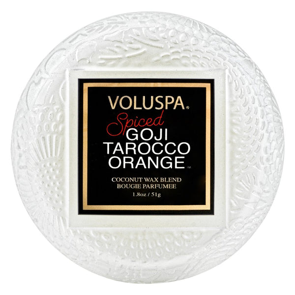 Spiced Goji Tarocco Orange Macaron Candle by Voluspa