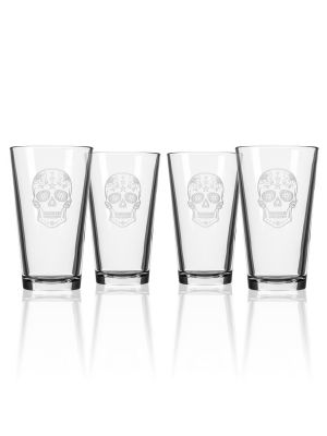 Sugar Skull Pint Glass