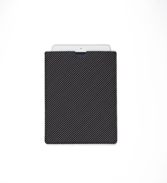 Black Pickstitch Tablet Sleeve by Chilewich