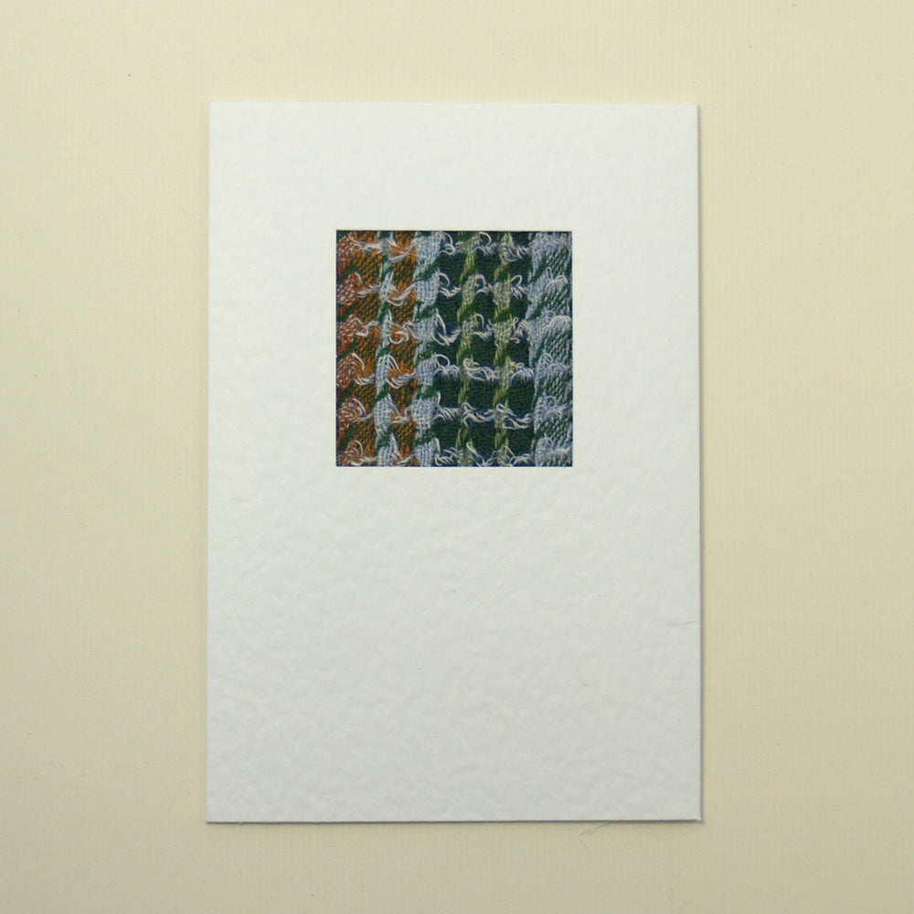 Handmade Greetings Card - Crinkle Green