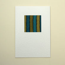 Load image into Gallery viewer, Handmade Greetings Card - Turquoise Stripe