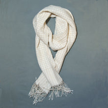 Load image into Gallery viewer, Helix Collapse Scarf - White
