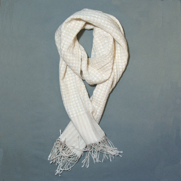 Helix Collapse Scarf - White