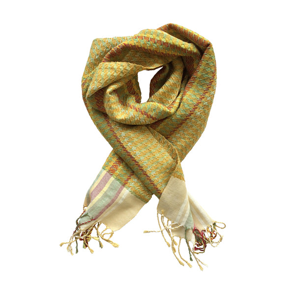 Helix Scarf - Orchard Flowers Mustard