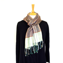 Load image into Gallery viewer, Helix Scarf - Coastal Sandstone Stripe