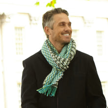 Load image into Gallery viewer, Jigsaw Scarf - Aquamarine
