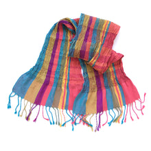 Load image into Gallery viewer, Collapse Scarf - Indian Summer - Variegated Stripe