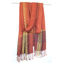 Load image into Gallery viewer, Medium Silk Scarf - Desert Sands - Rust