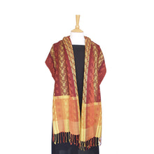 Load image into Gallery viewer, Silk & Merino Scarf - Desert Sands - Aubergine