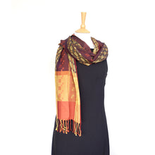 Load image into Gallery viewer, Silk & Merino Scarf - Desert Sands - Navy