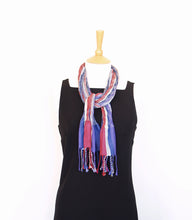 Load image into Gallery viewer, Skinny Collapse Scarf - Lavender & Grey