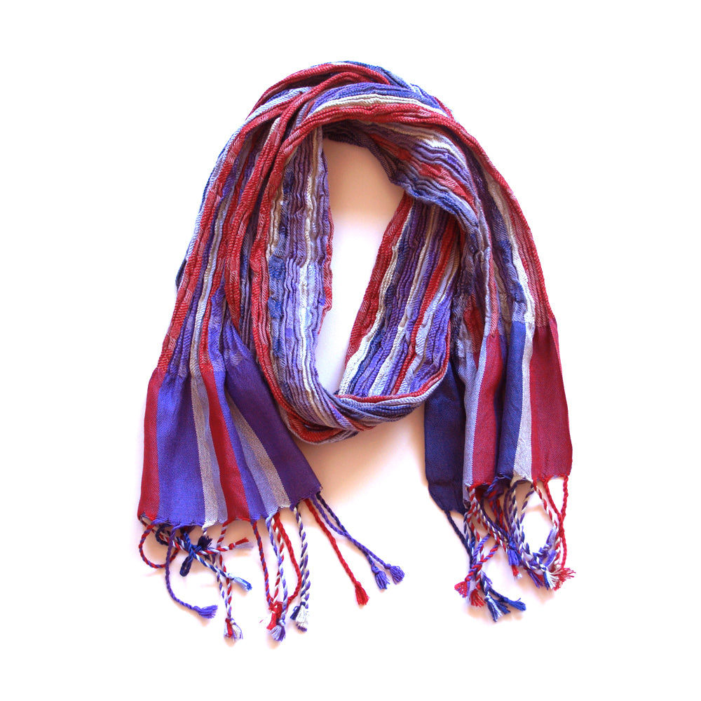 Skinny Collapse Scarf - Lavender & Grey