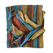 Load image into Gallery viewer, Collapse Scarf - Vibrant Stripe - Olive