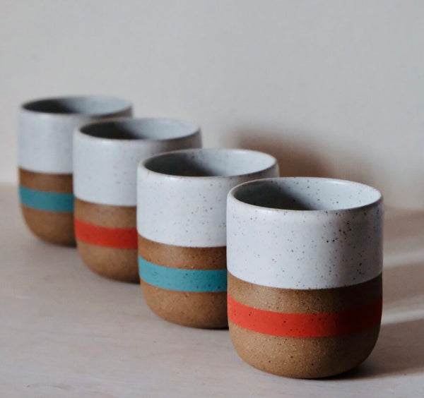 Speckled Poppy Stripe Cup