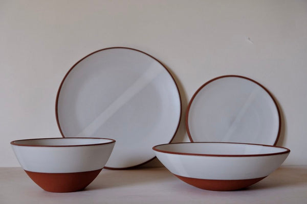 White Satin Dinnerware - made-to-order