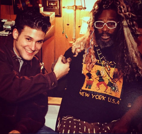 Adam H with George Clinton. New York City, age 17