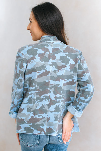 Crushed Stone Strip Camo Military Jacket