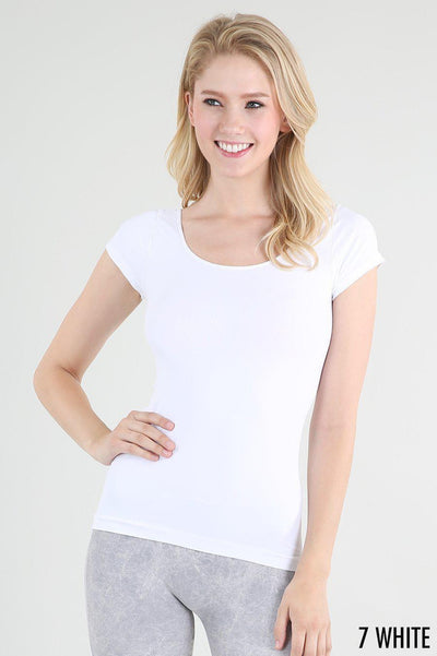Basic Plain Short Sleeve Top - Glitz & Ears