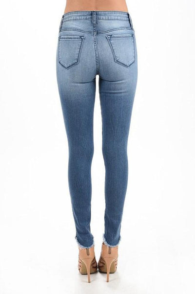 Mid-Rise Distressed Skinny Jean-Glitz & Ears Boutique