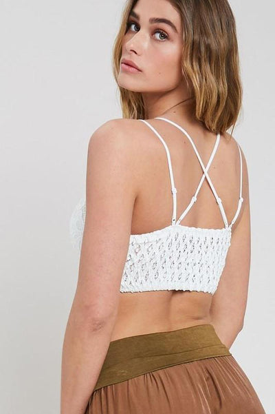 Lace Bralette with Strappy Back-Glitz & Ears Boutique