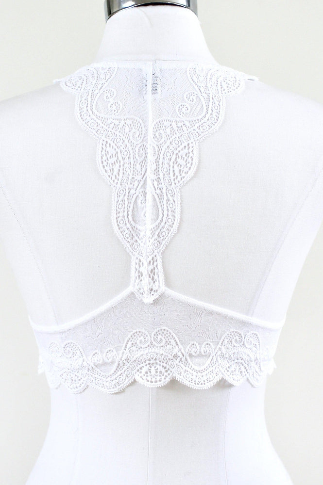 All Lace Halter Bralette - Glitz & Ears