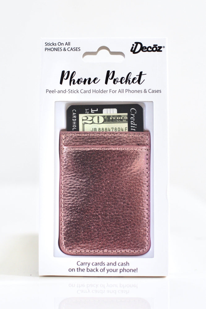 Faux Leather Phone Pocket - Glitz & Ears