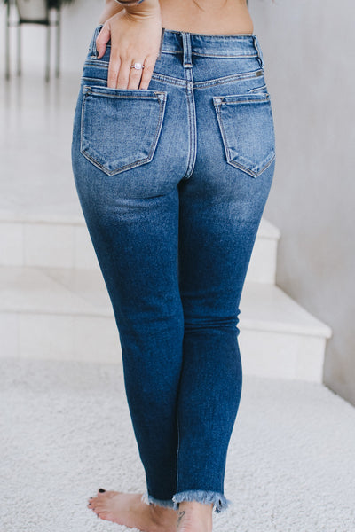 Split Hem Ankle High Waisted Skinny Jean