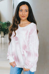 Airbrush Tie-Dye Knit Sweater