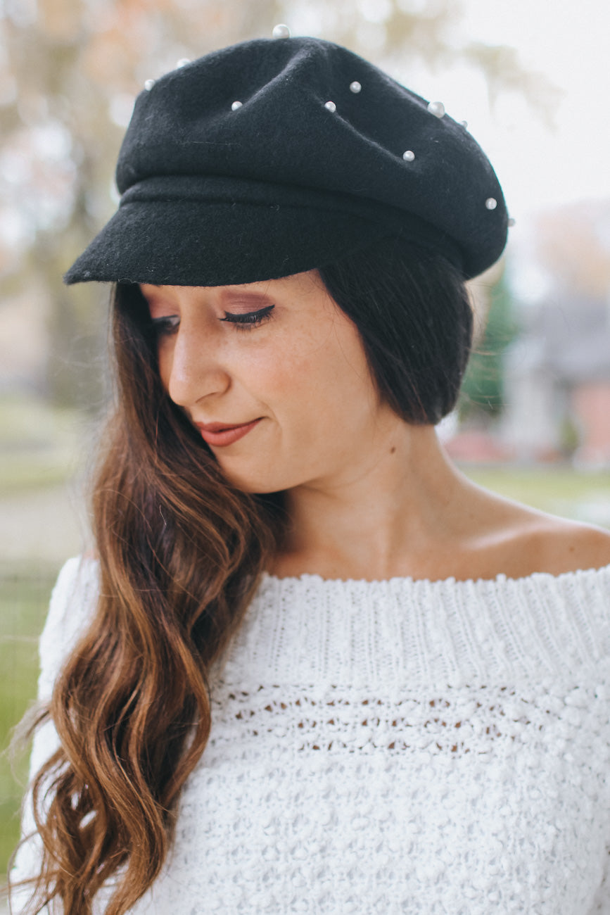 Scatter Pearl Top Conductor Hat