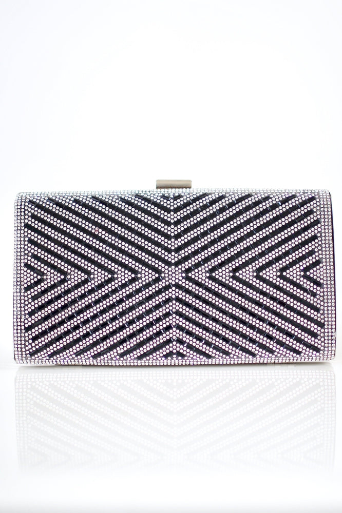 Alternating Rhinestone & Baguette Clutch - Glitz & Ears