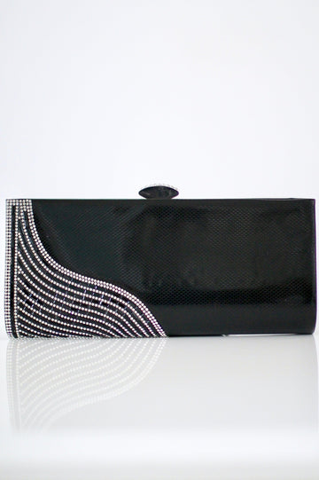 Baguette Waved Corner Clutch - Glitz & Ears