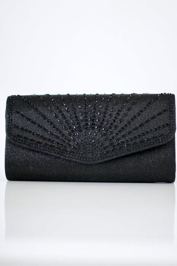 Baguette Stone Flap Envelope Clutch - Glitz & Ears