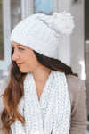 Braid Knit Lurex Beanie